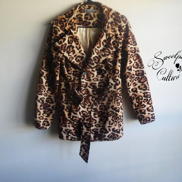 6bb5520fb7a7 ModModele Jackets & Coats | Leopard Print Peacoat | Poshmark
